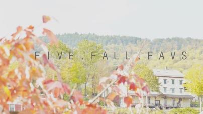 FIVE FALL FAVS